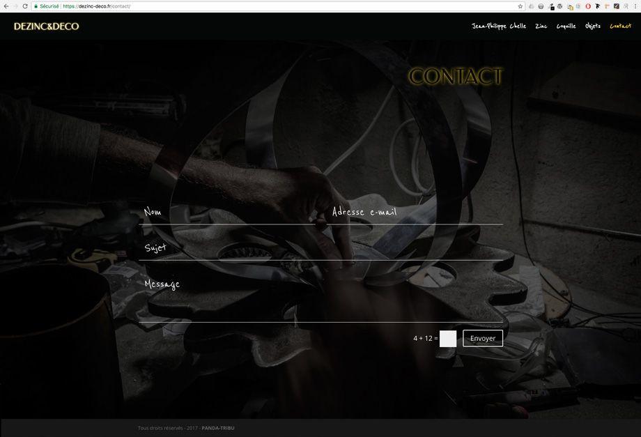 dezinc-deco.fr - page Contact