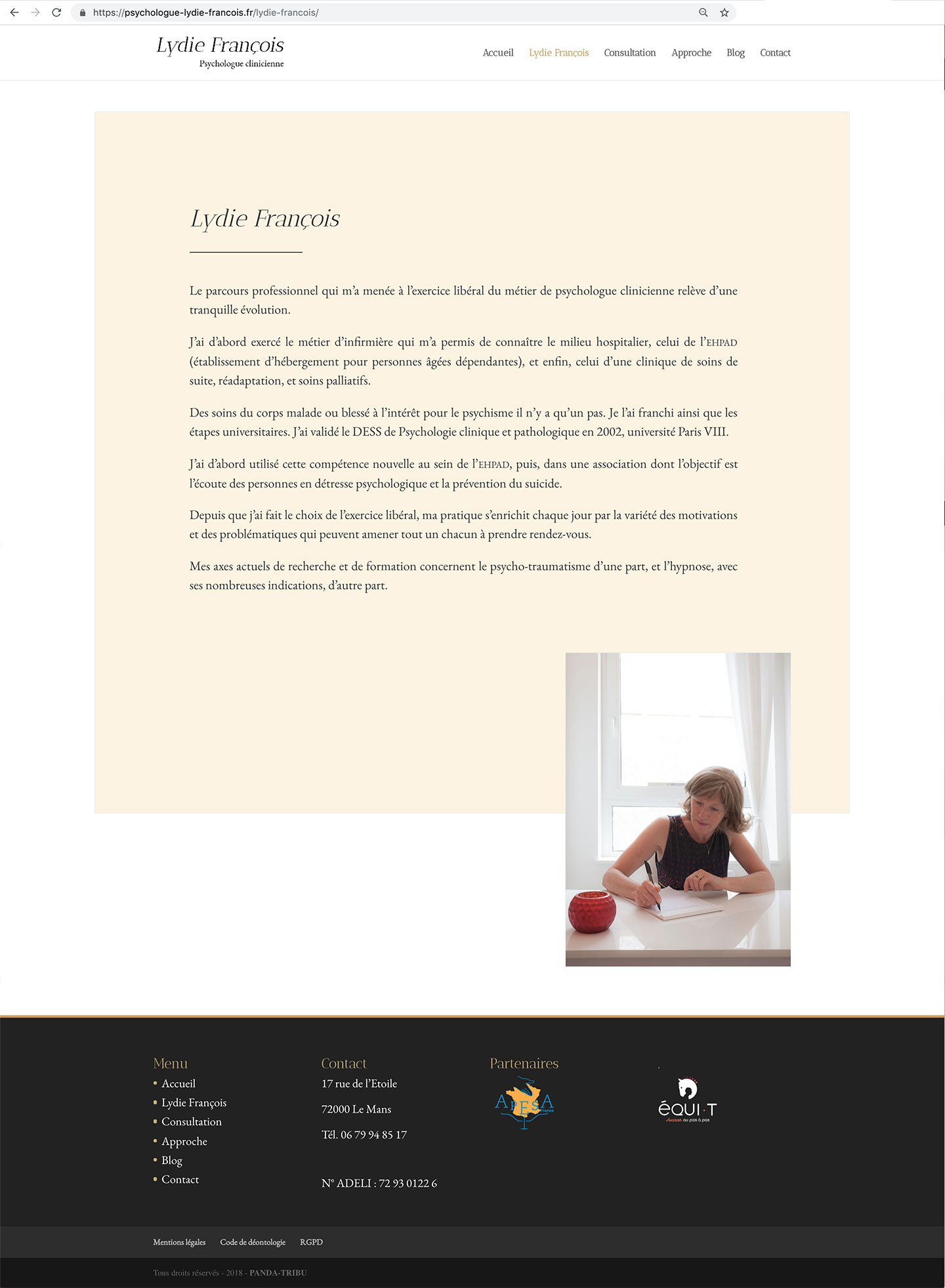 Muriel Souty - page biographie