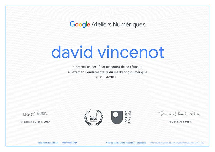 Fondamentaux du marketing numérique - David Vincenot